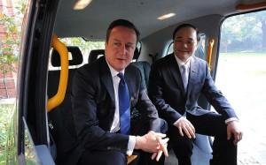 В такси