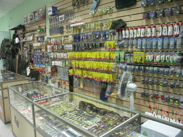 прилавки для рыболовных магазинов
