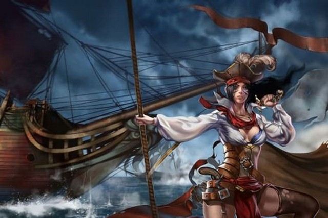 Женщина на корабле
