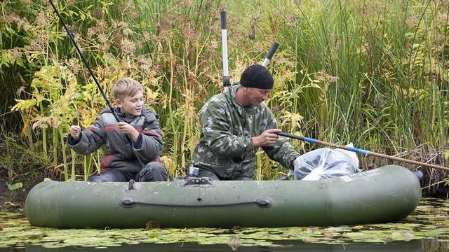 С отцом на рыбалку